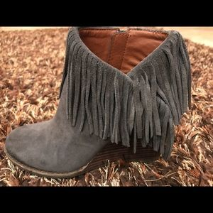 Lucky Brand Yachin fringe Ankle bootie